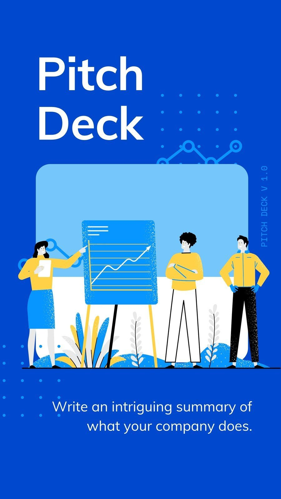 Blue and White Illustrative Technology Startup Pitch Deck Mobile First Presentation