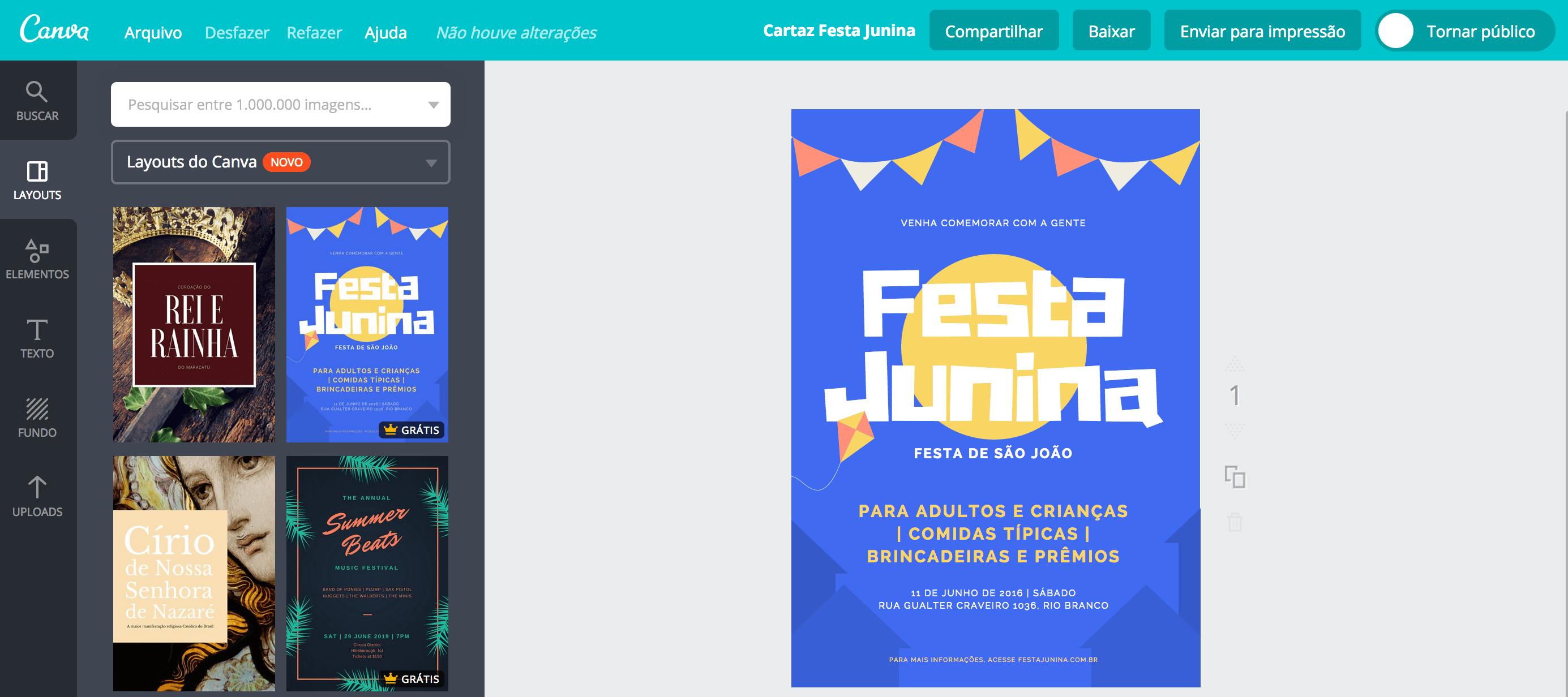 Cartaz para festa Junina
