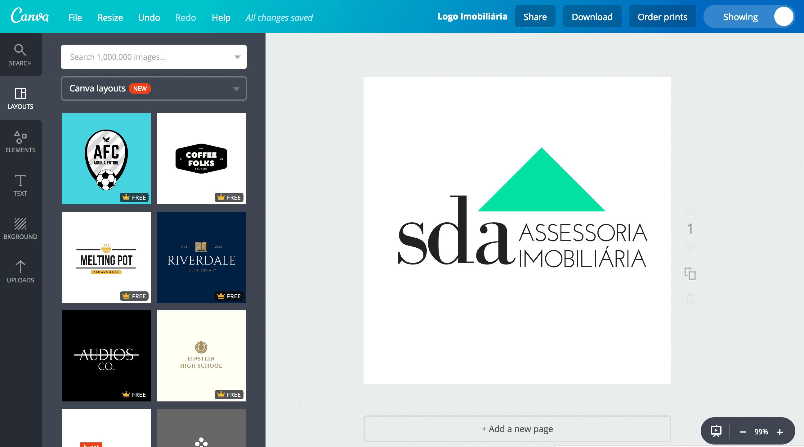 Logo de imobiliária