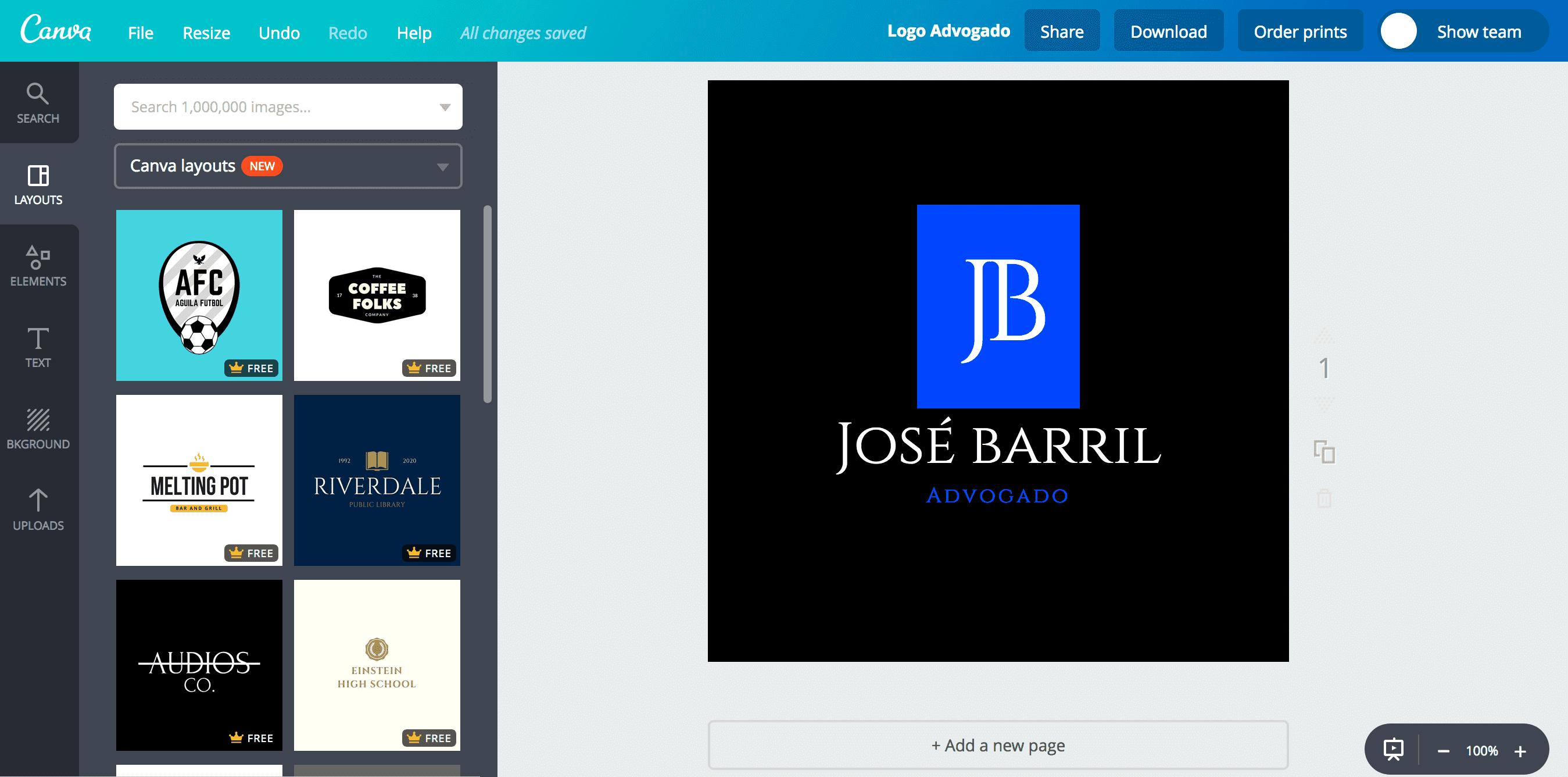 Logo de advogado