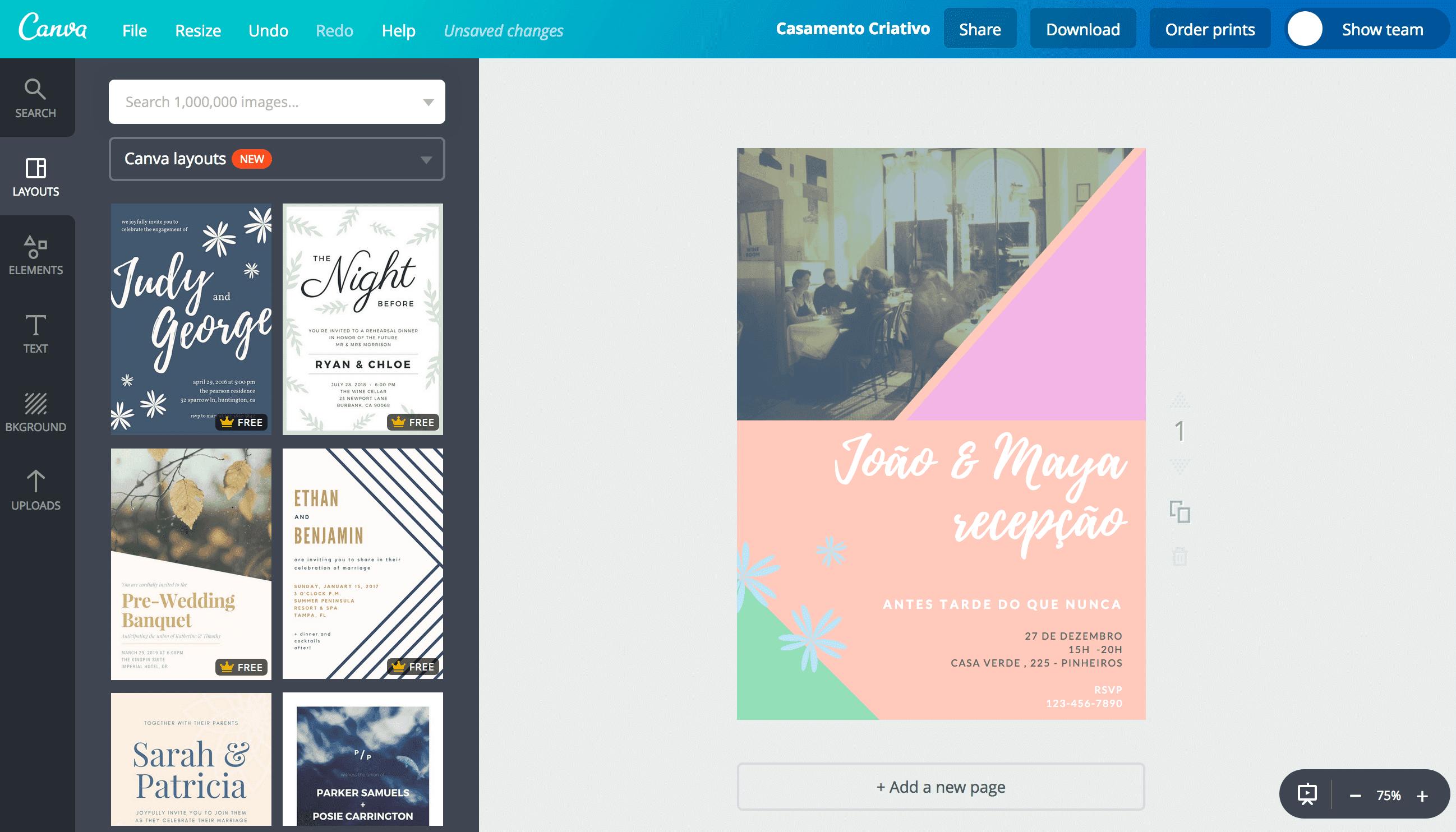 Convite de casamento criativos