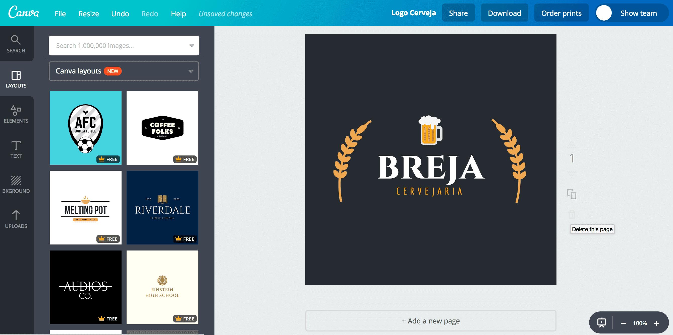 Logo de cerveja