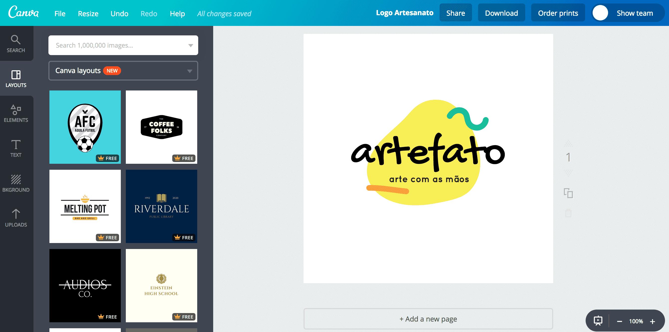 Logo de artesanato