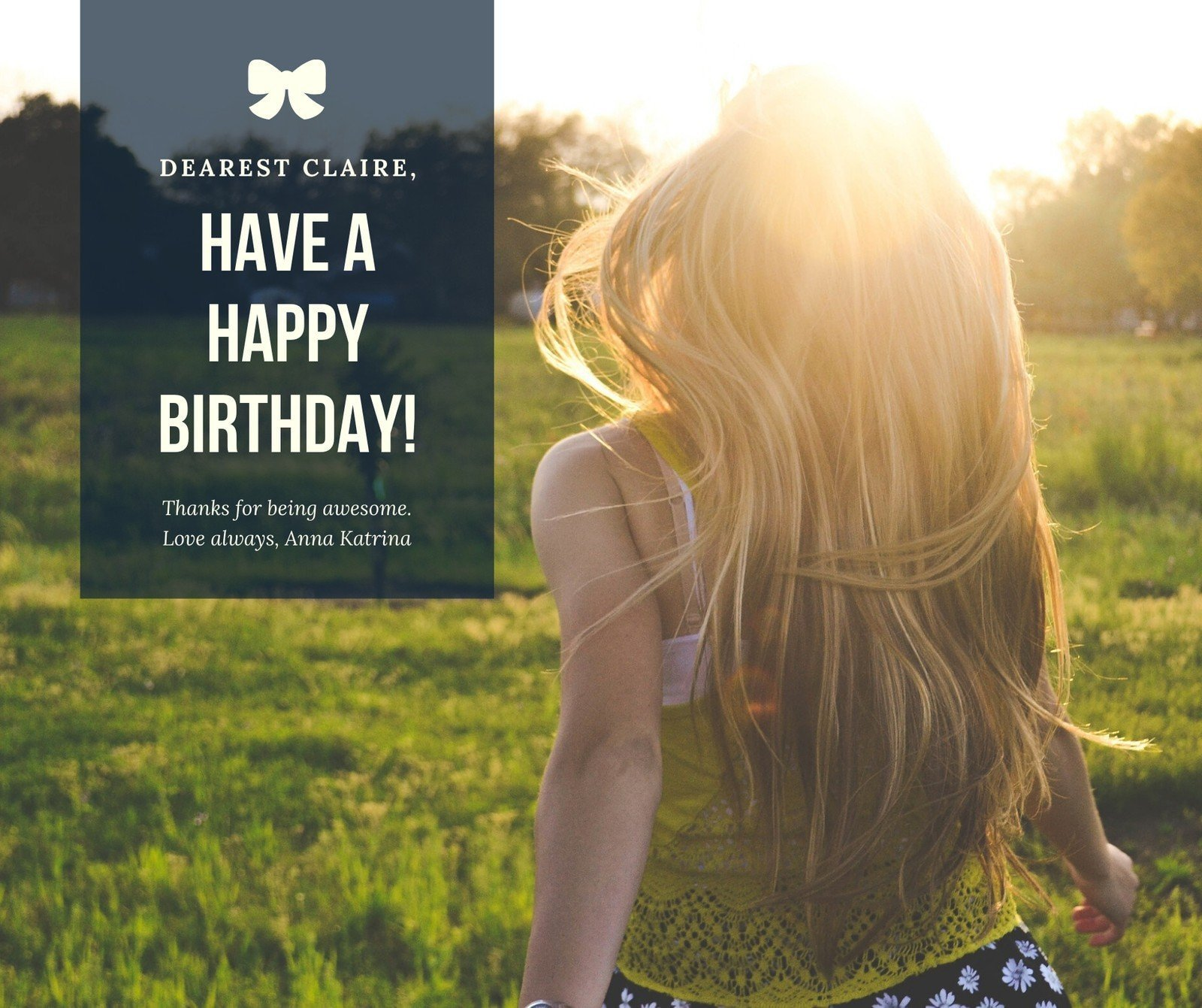 Dark Blue Photo Happy Birthday Facebook Post