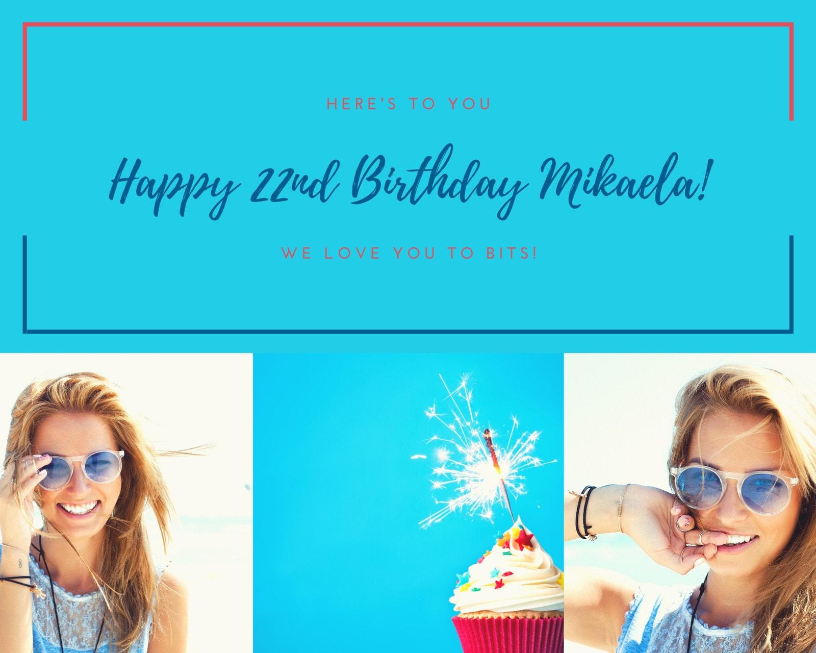 Birthday Cupcake Photo Collage