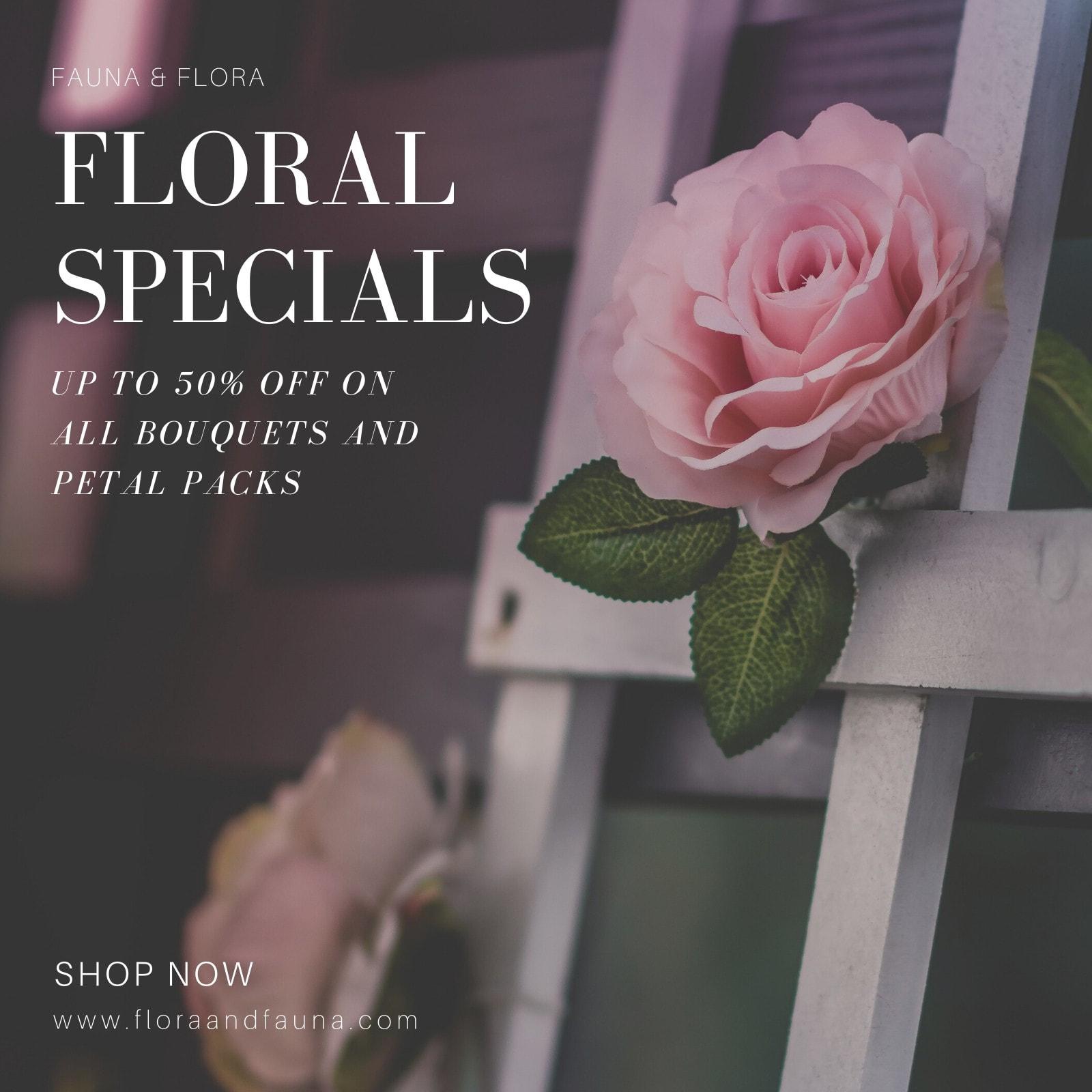 Typography Flowers Instagram Post