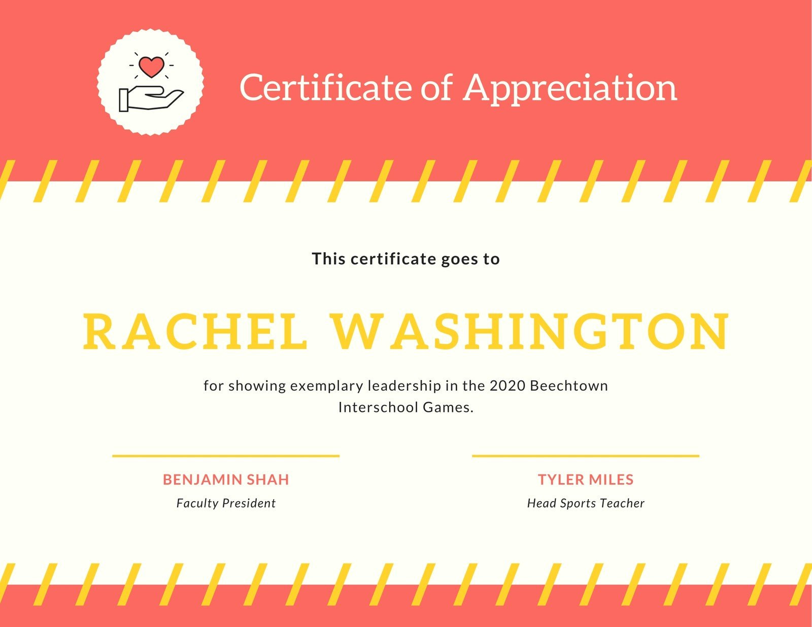 Red Simple Badge Certificate of Appreciation