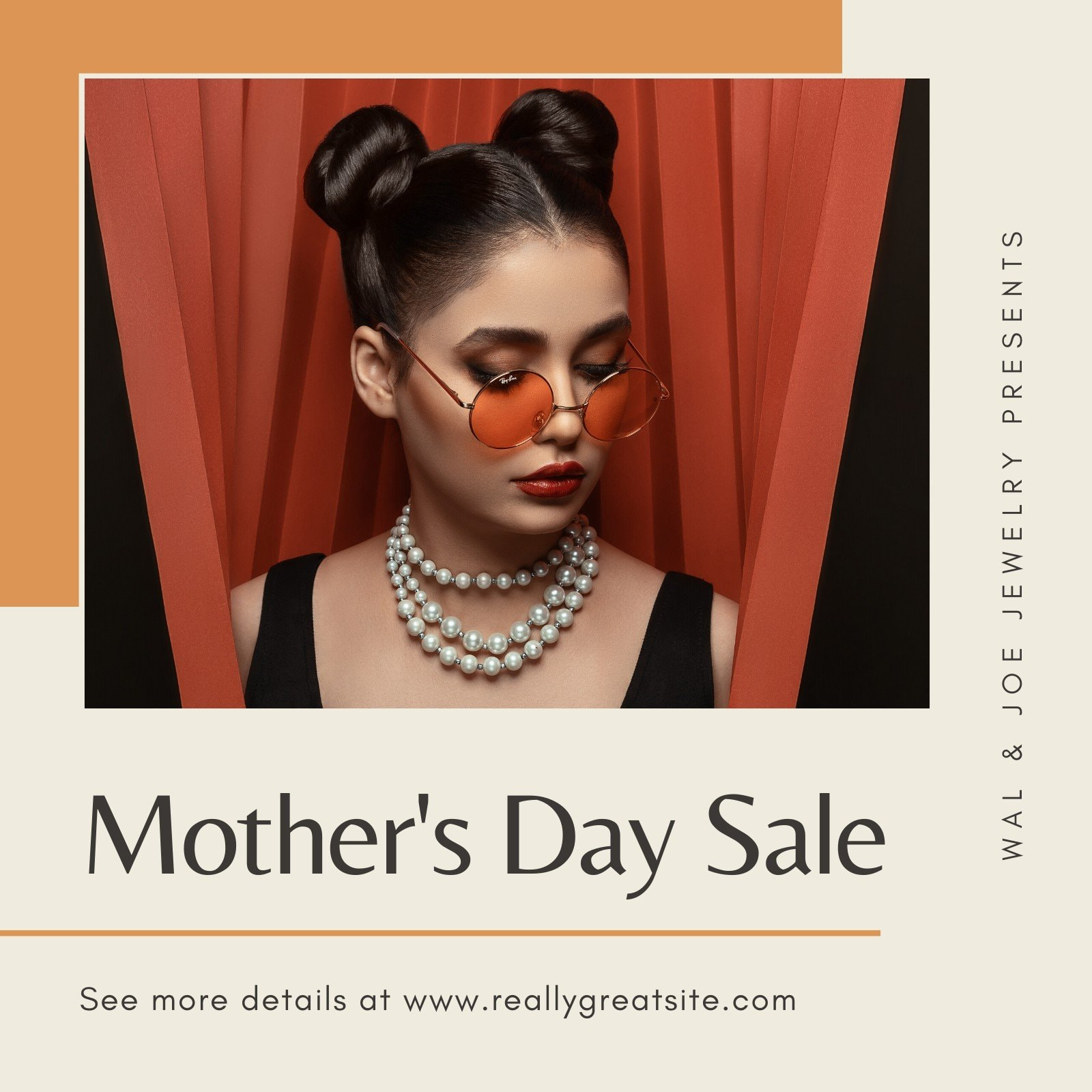 Orange Jewelry Mother's Day Sale Business Instagram Post