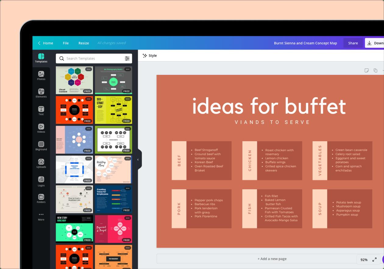 Diseña Mapas Conceptuales Online Gratis Con Canva