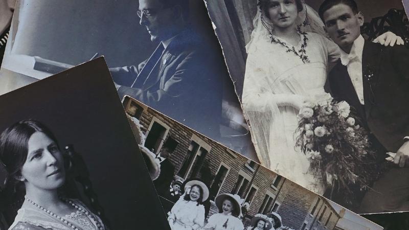 Семейные черно-белые фотографии
