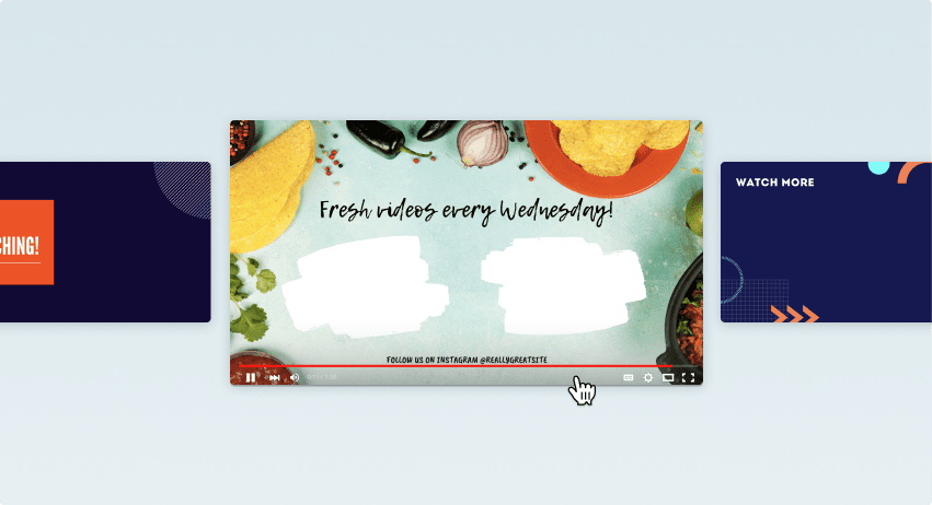 Designs de encerramentos para YouTube do Canva