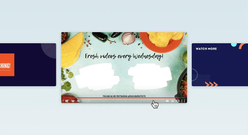 Canva YouTube-outrodesign