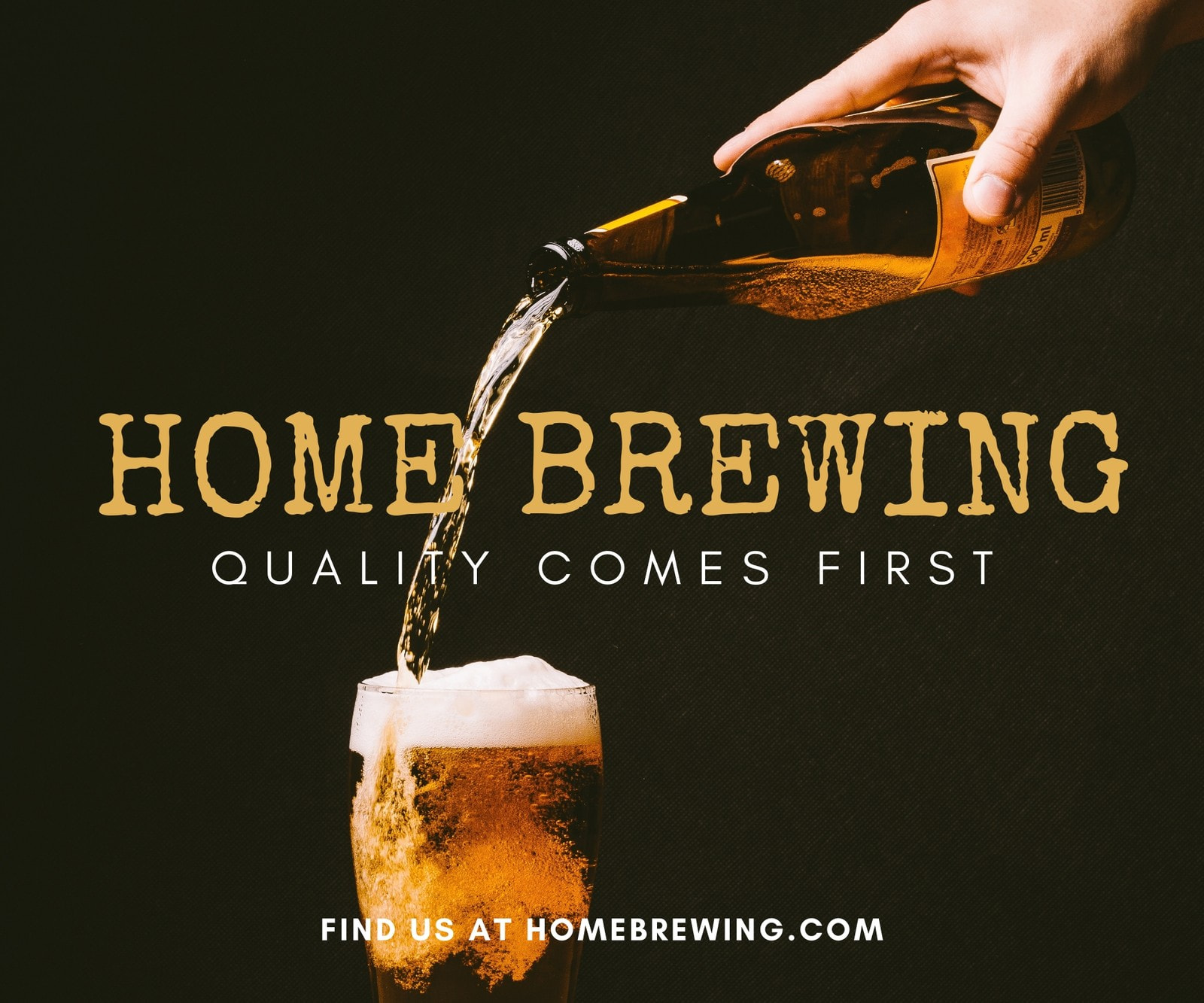Yellow Beer Home Brewing Medium Rectangle Banner