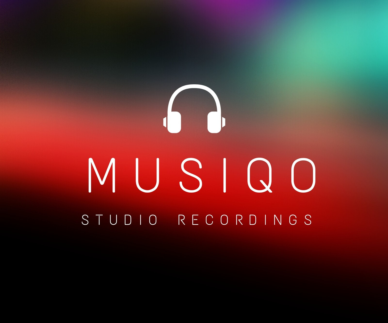 Blurred Photo Studio Recording Medium Rectangle Banner