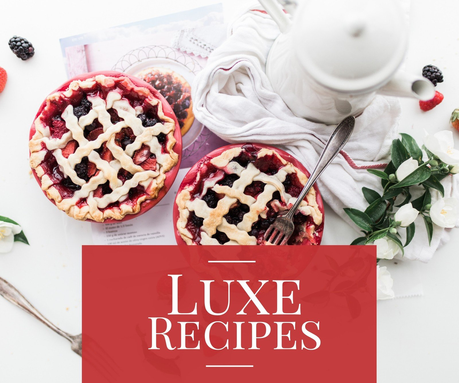 Red Pie Photo Recipes Medium Rectangle Banner