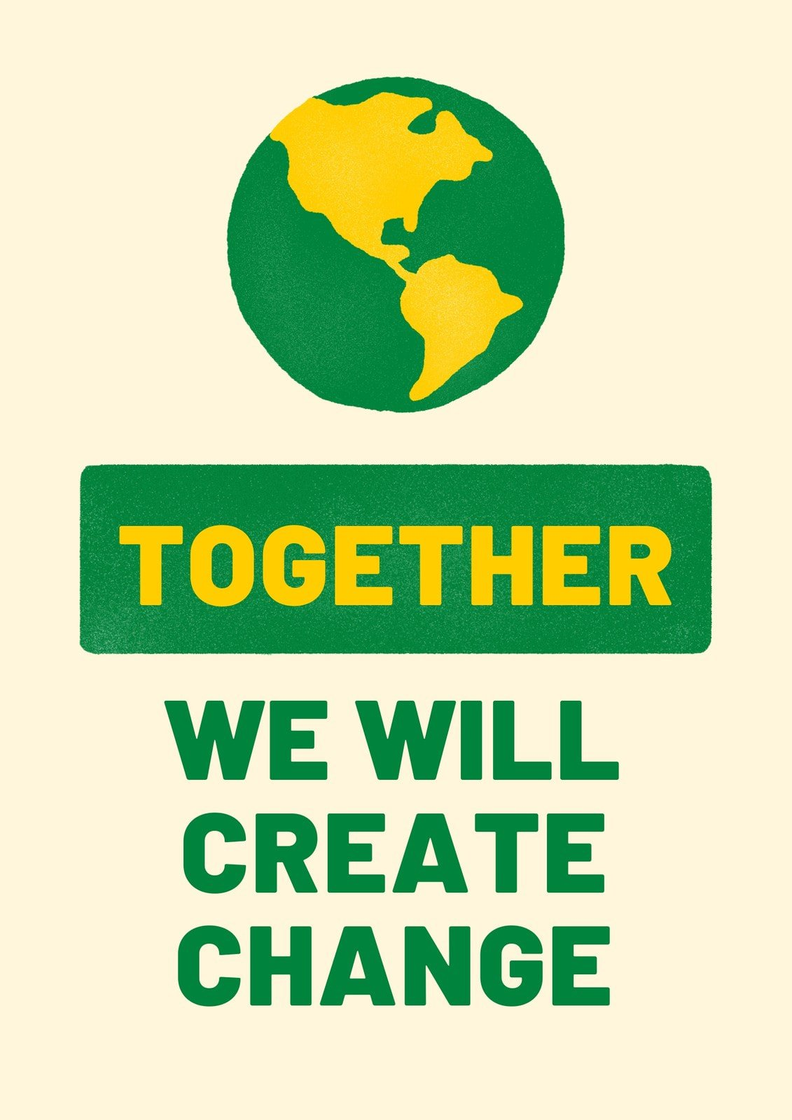 Fire relief - Together we will create change poster