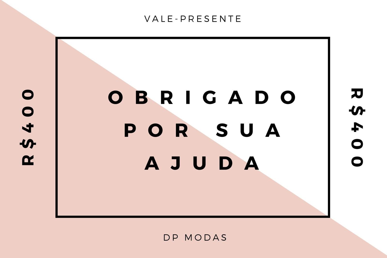 Rosa Moderno Minimalista Moda Voluntário Vale-Presente