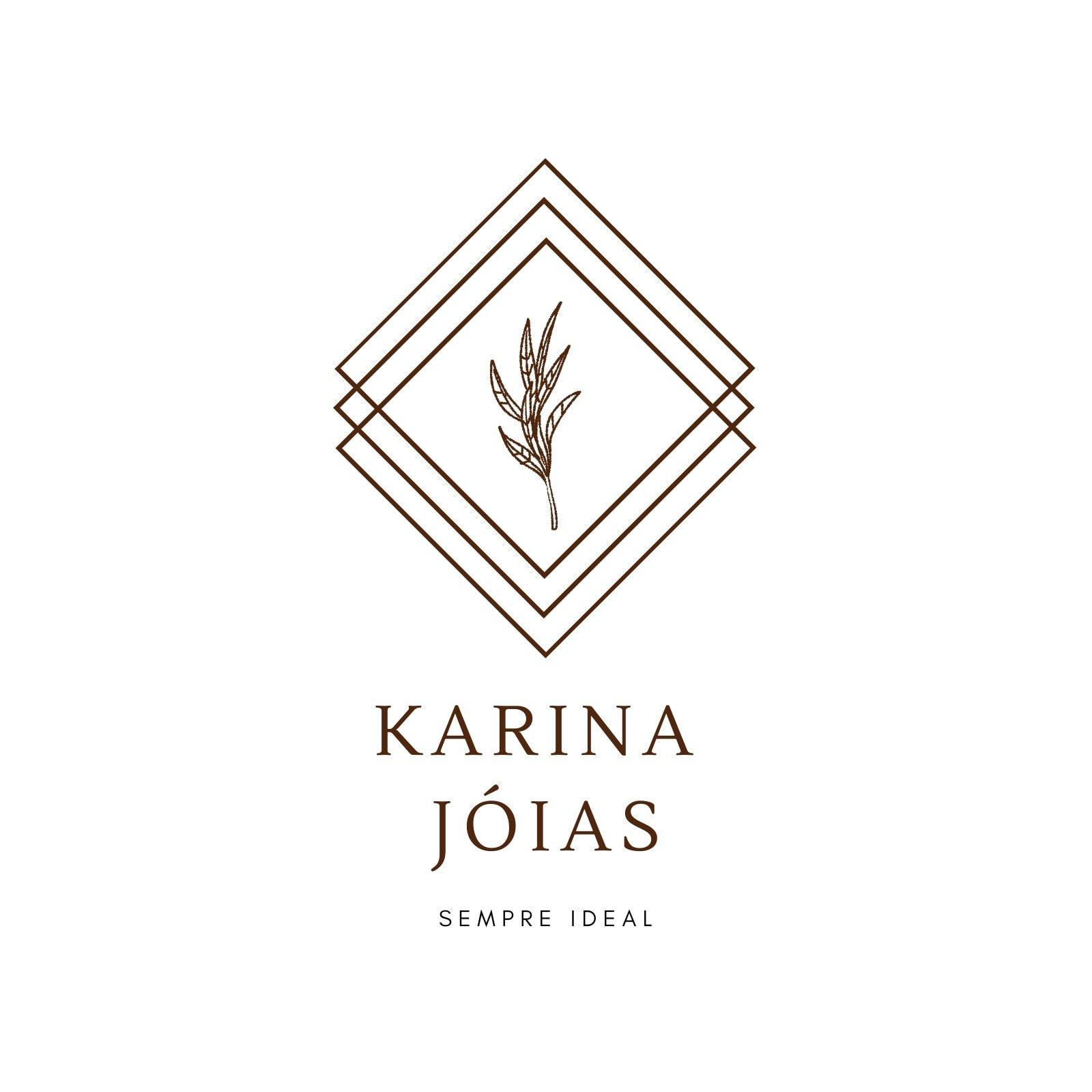Elegante Geométrico Joalheria Logotipo