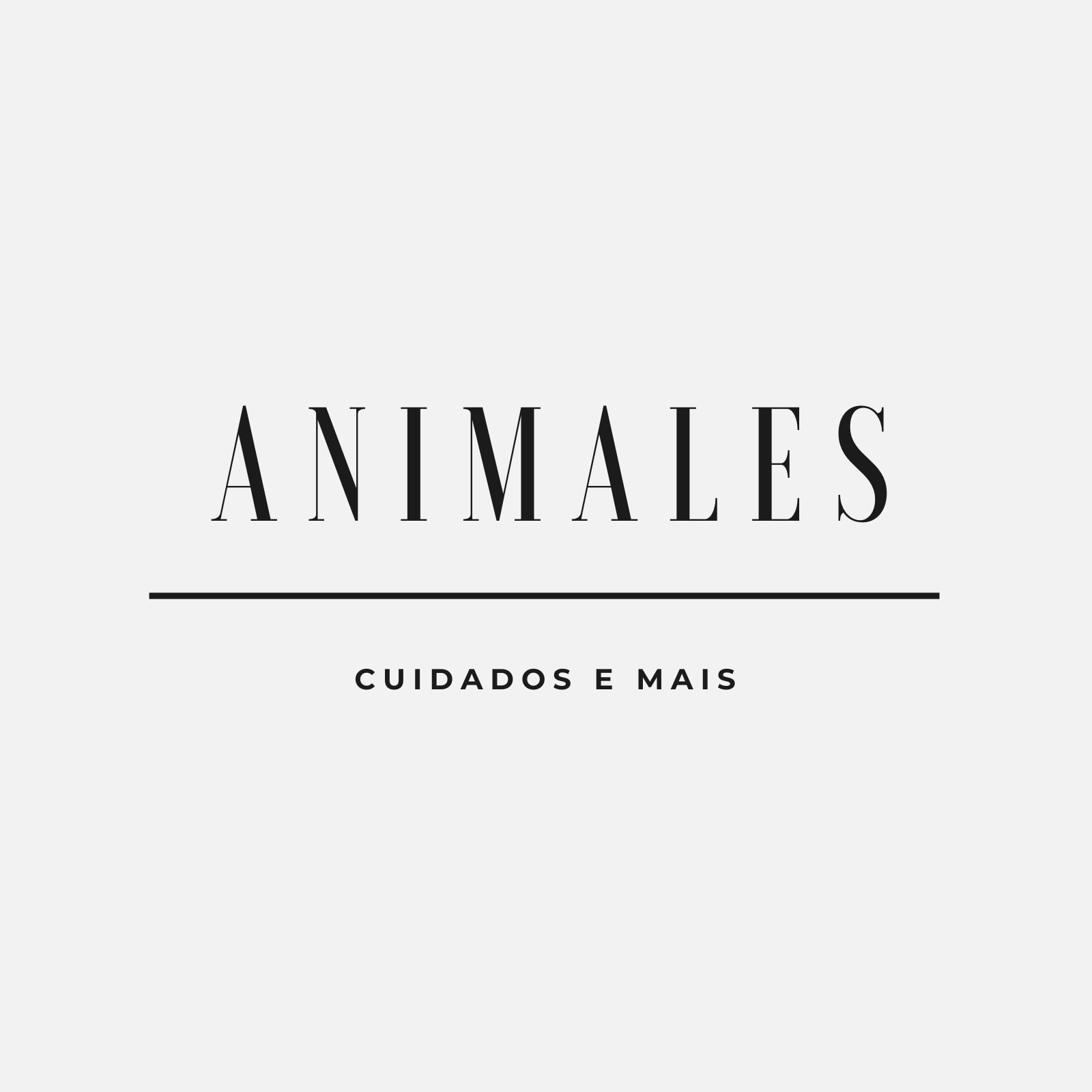 Preto Branco Simples Animais e Pets Logotipo