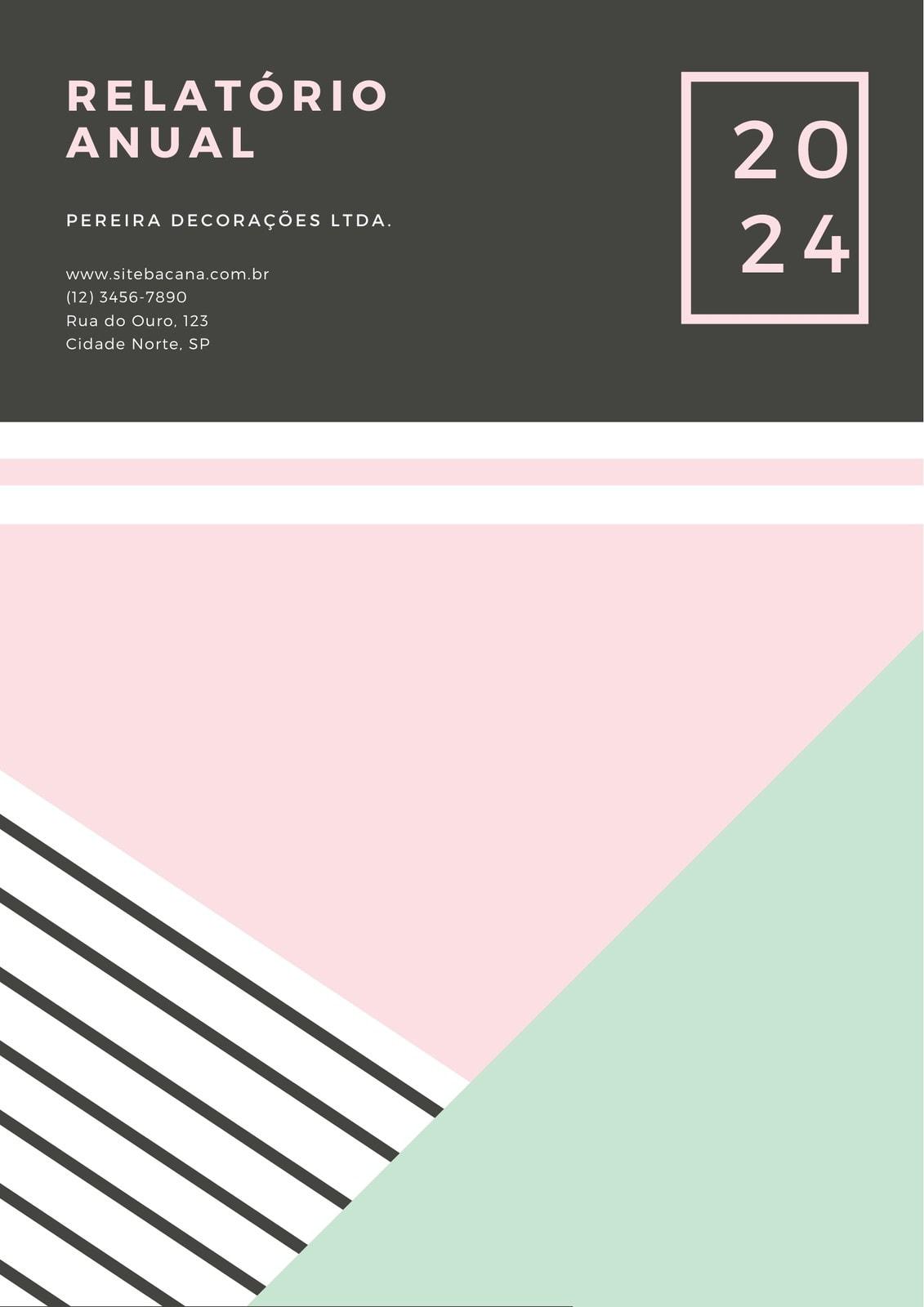 Pastel Geométrico Anual Relatório
