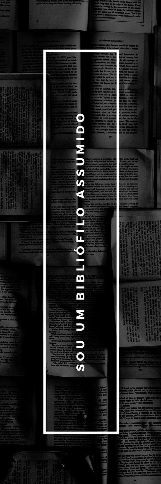 Preto e Branco Livros Bibliófilo Marcador de Páginas