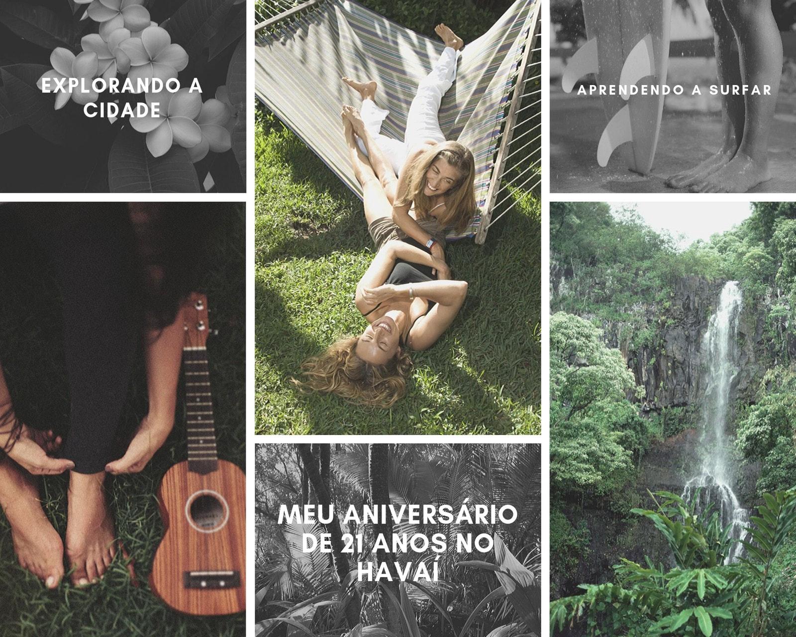 Havaiano Verão Ar Livre Viagem Fotos Grade