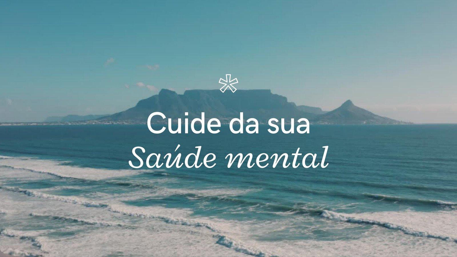 Branco Simples Saúde Mental 16:9 Vídeo