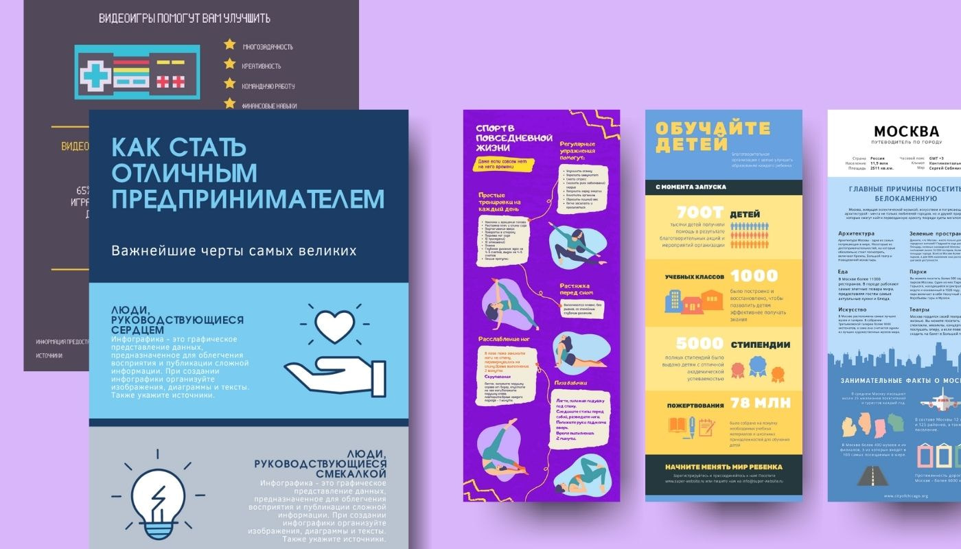 Инфографика на русском языке от Canva