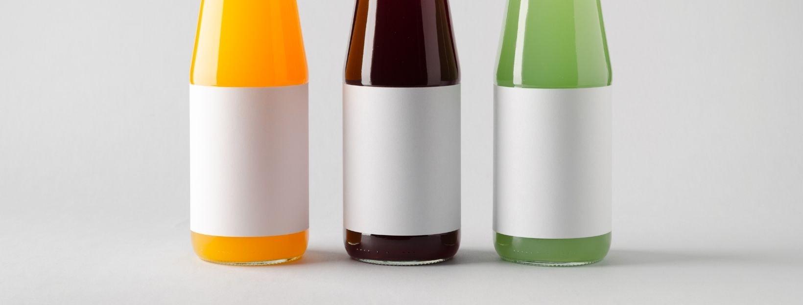 Etiketten auf Flaschen
