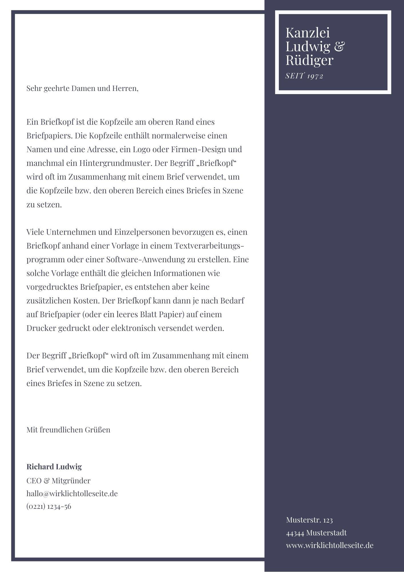 Briefkopf Erstellen Inkl 5 Kostenloser Design 7