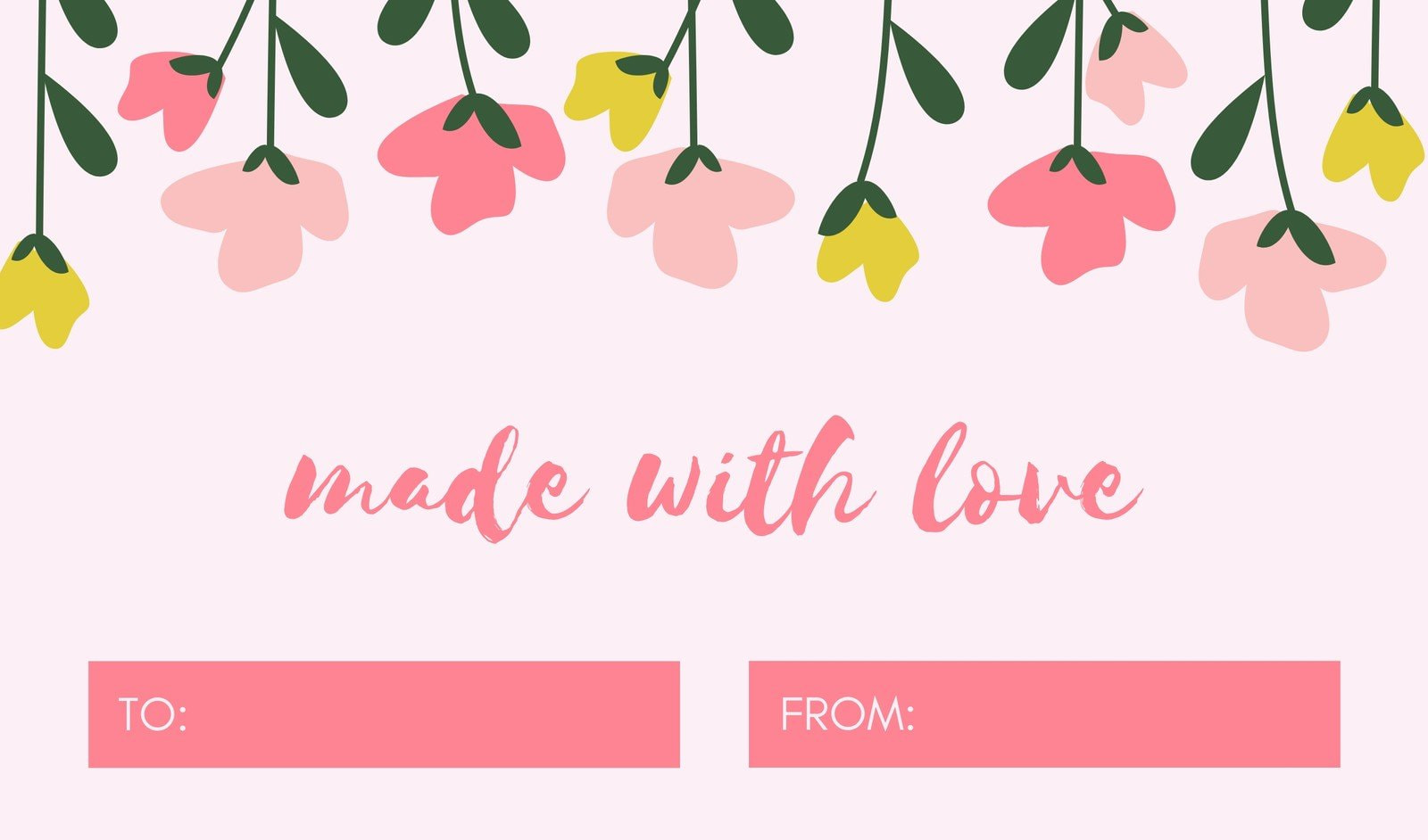 Pink Floral Gift Tag