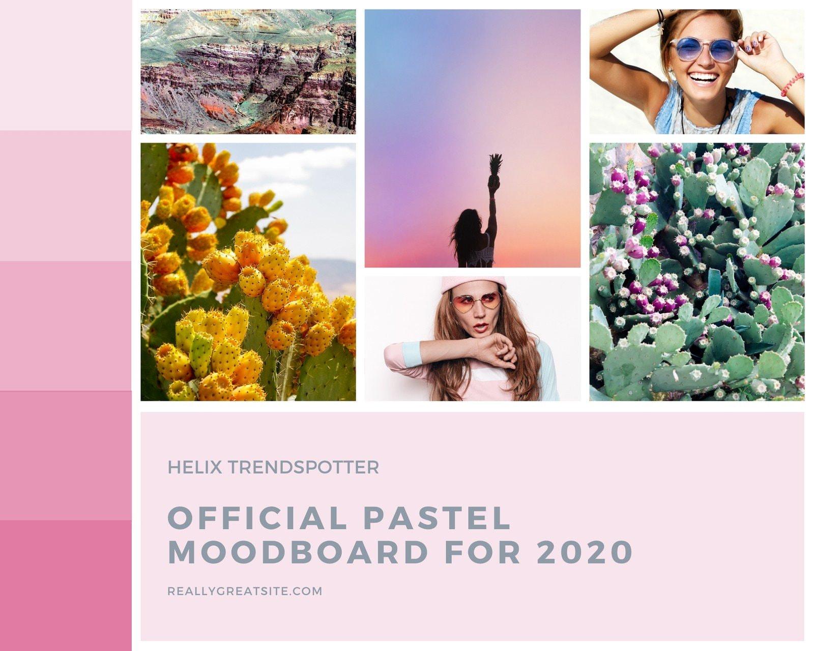 Pastel Themed Natural Plants Mood Board