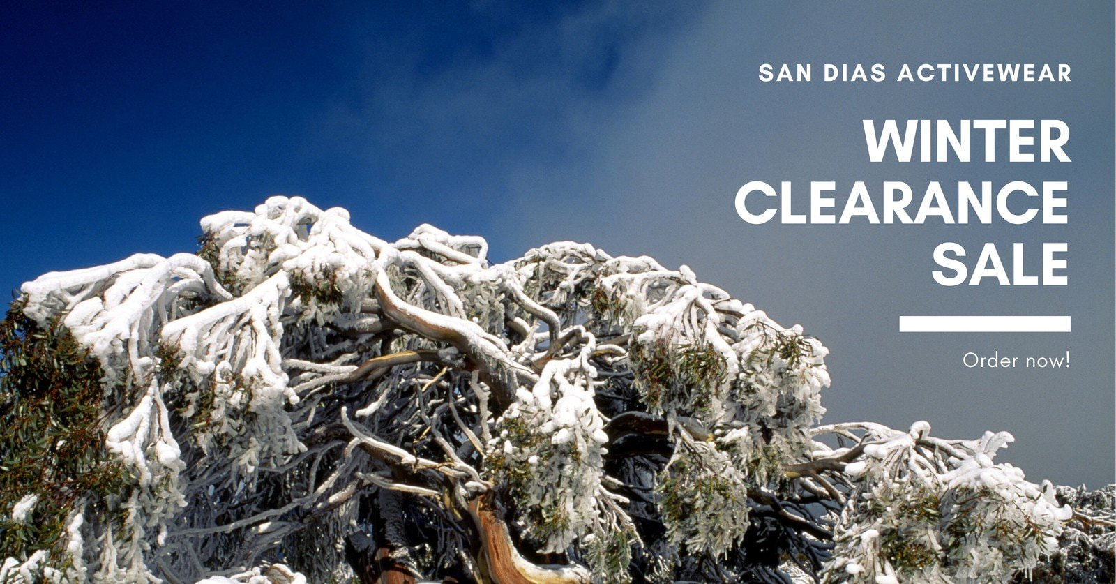 White Winter Facebook Ad