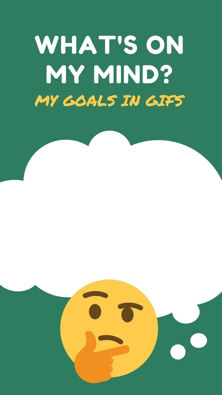Green and Yellow Artistic GIF Challenge Goals Interactive Instagram Story