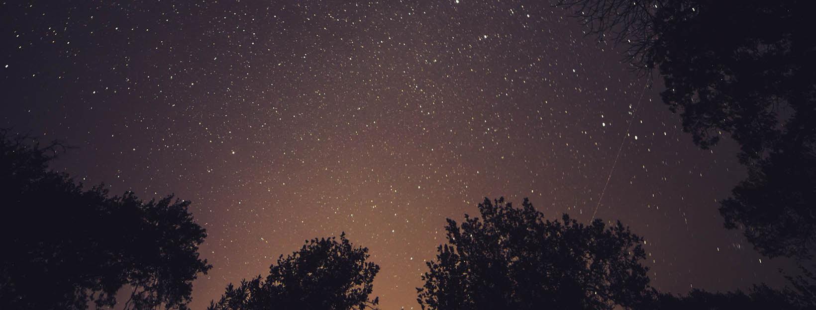 Gute Nacht Bild mit Sternenhimmel