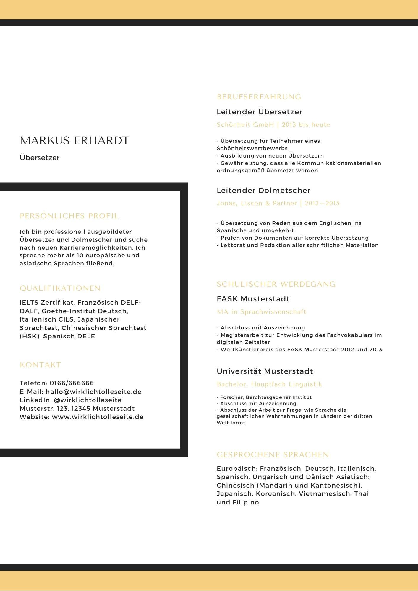 55 Kreative Und Moderne Lebenslauf Vorlagen