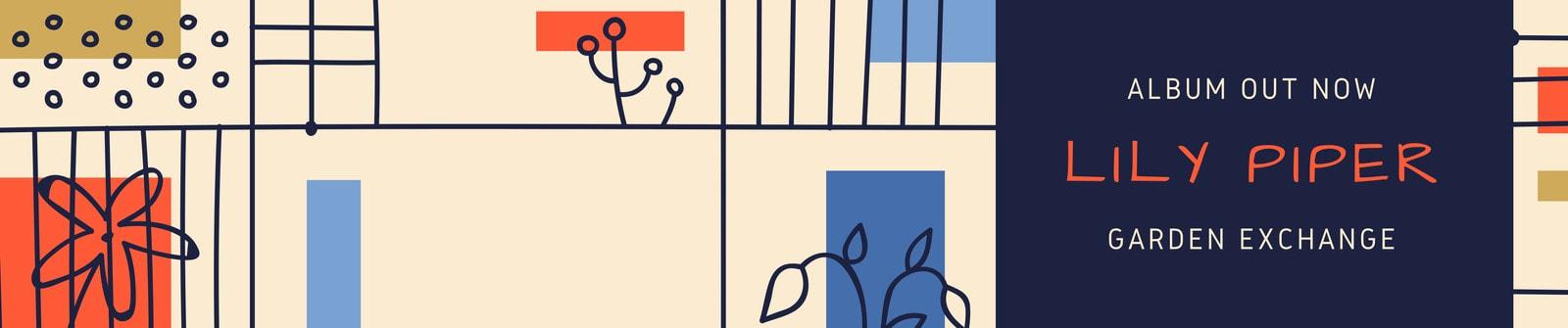 Beige Illustration Pattern General Soundcloud Banner