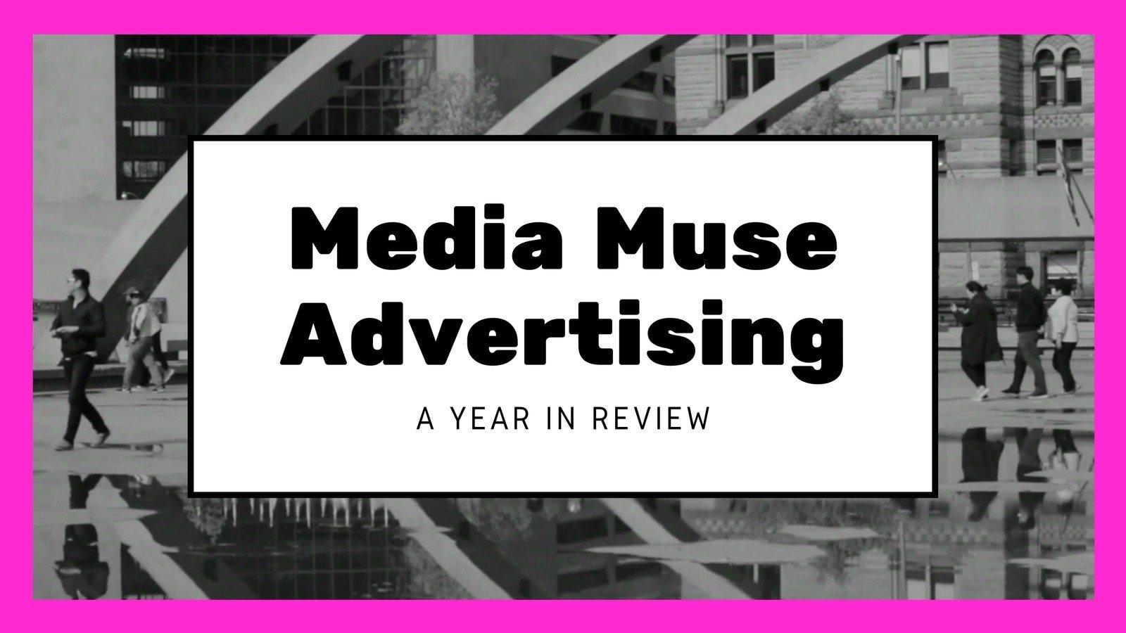 Pink, White and Black Advertising Year in Review Slideshow Video