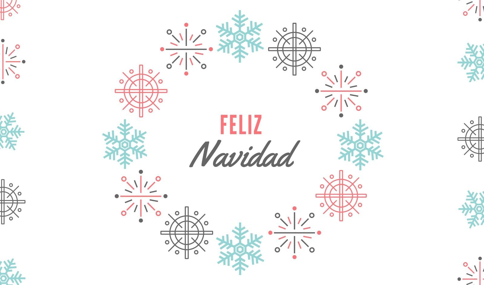 Rojo Blanco Azul Navidad Nórdico Regalo Etiqueta
