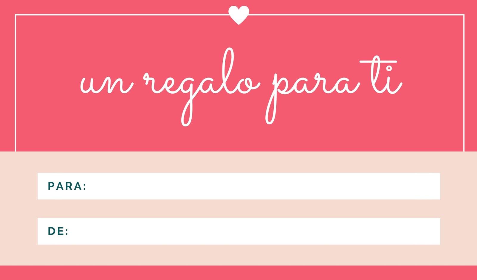 Rosa Borde Corazón Regalo Etiqueta