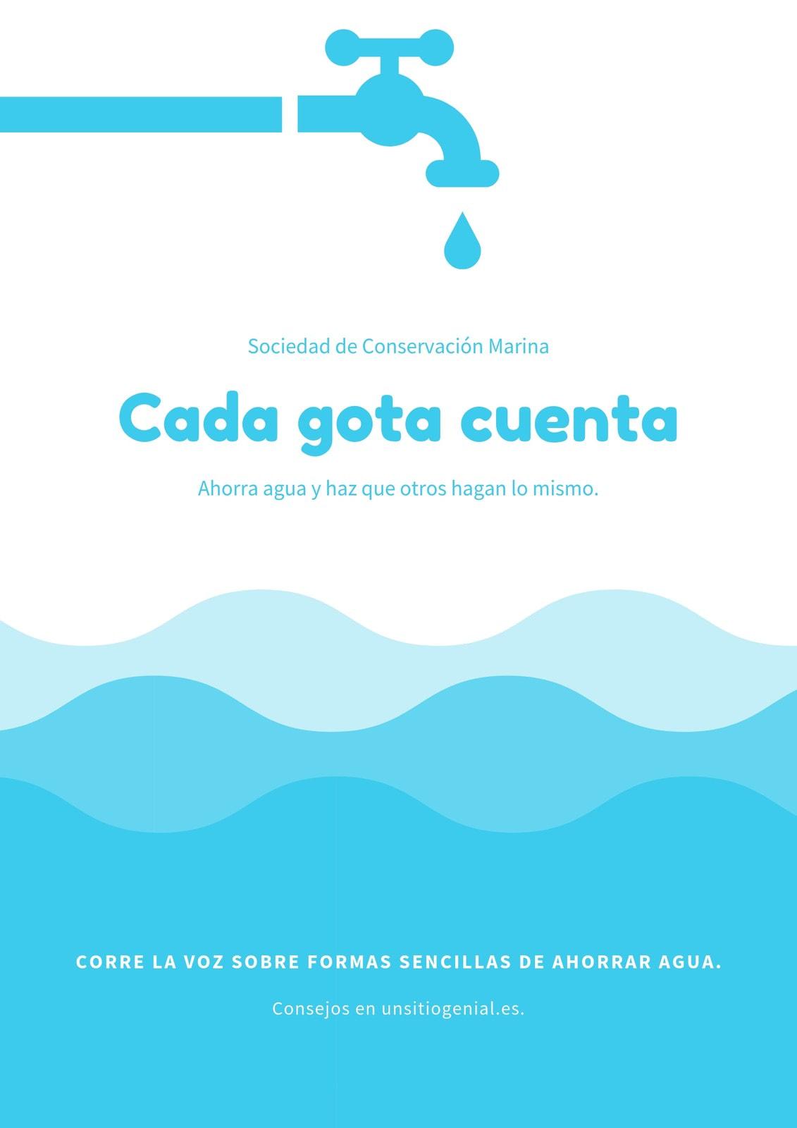 Póster Campaña Grifo de Agua Azul