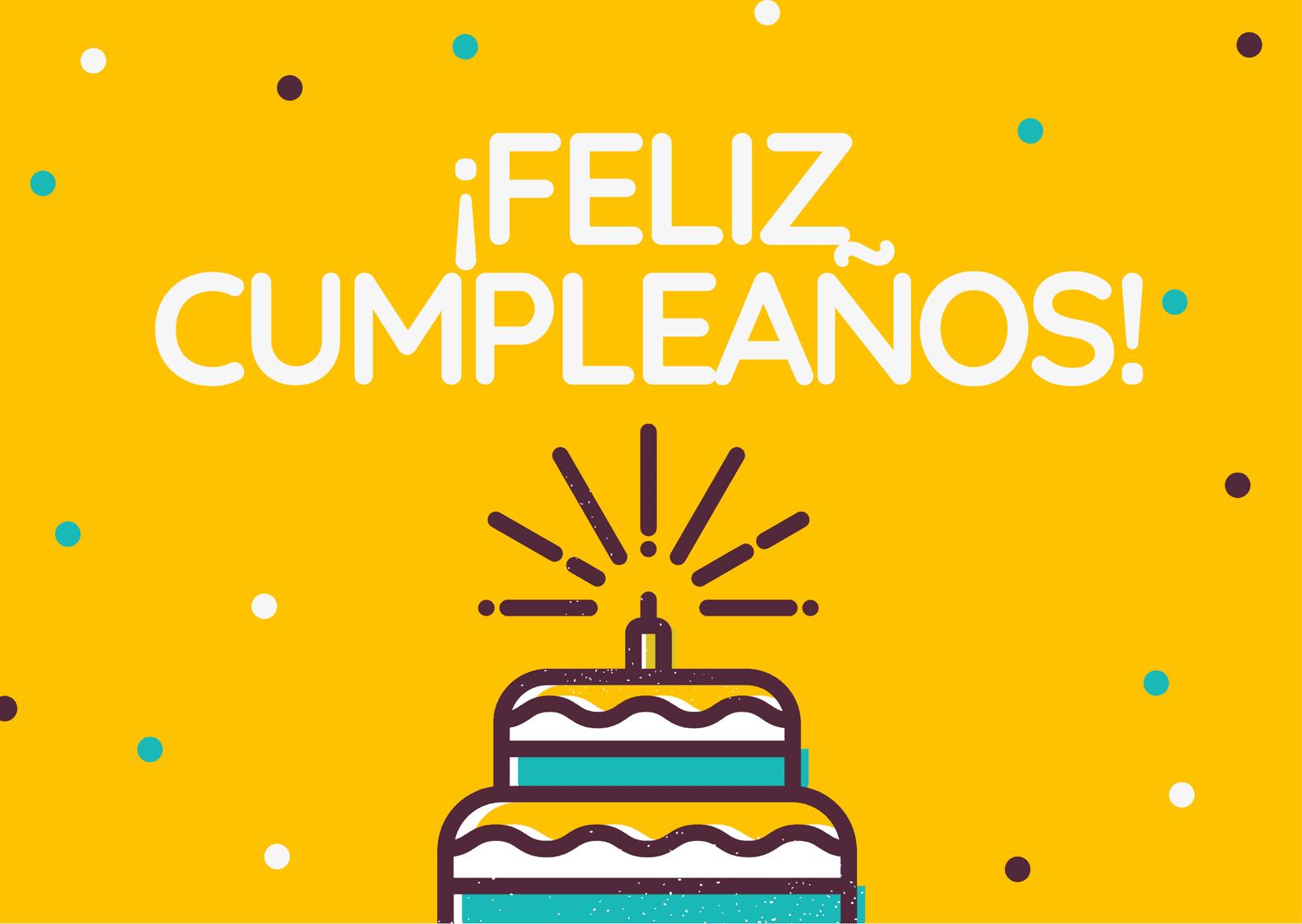 Tarjeta Bonito Tarta Feliz Cumpleaños