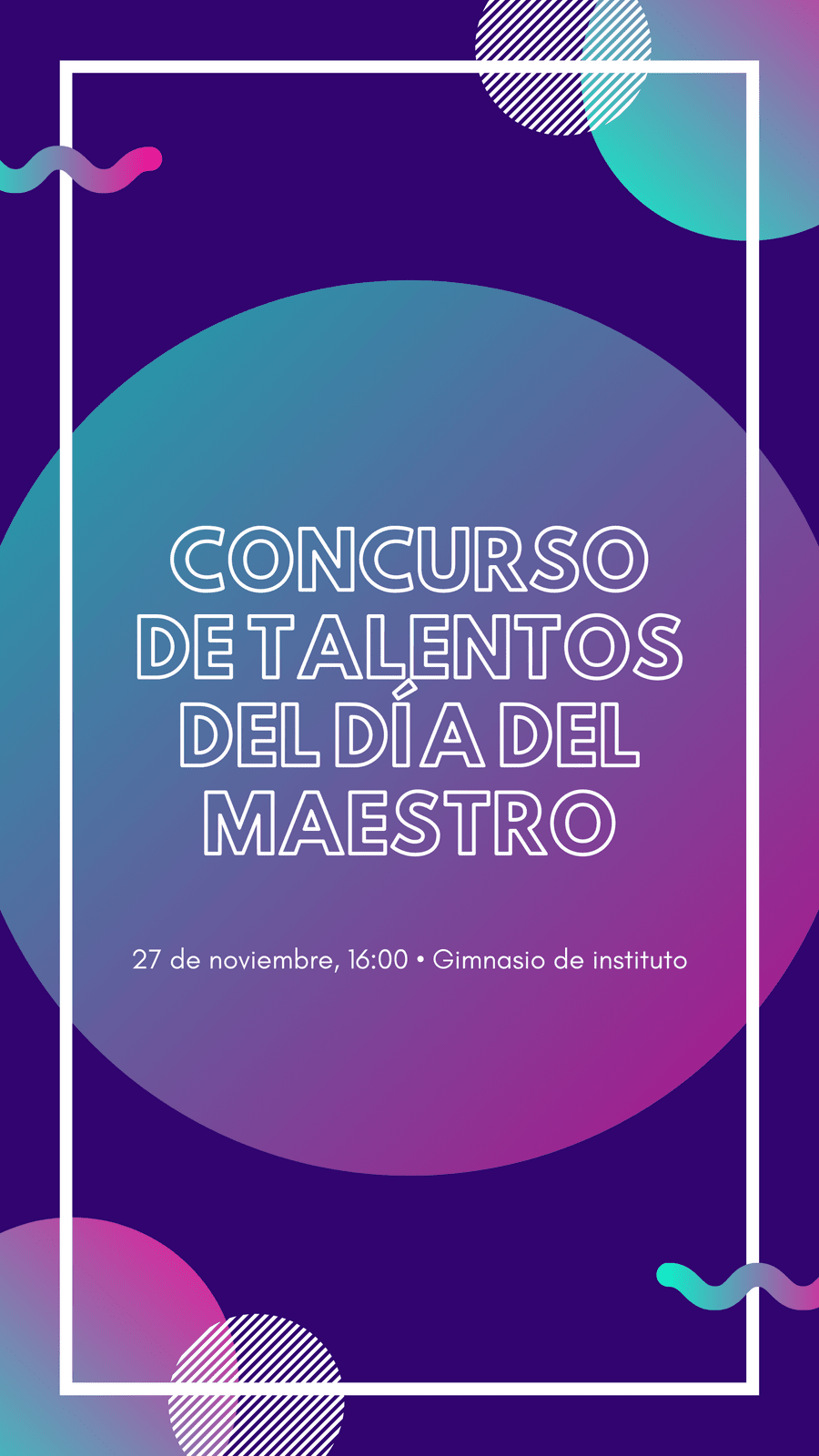 Moderno Evento del Día Nacional del Maestro Historia de Instagram