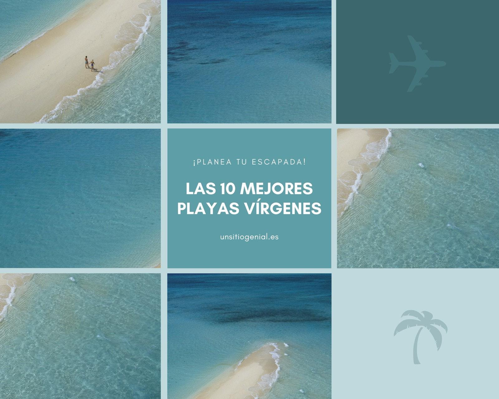 Azul Avión Palmera Mar Playa Viaje Mosaico Foto Collage