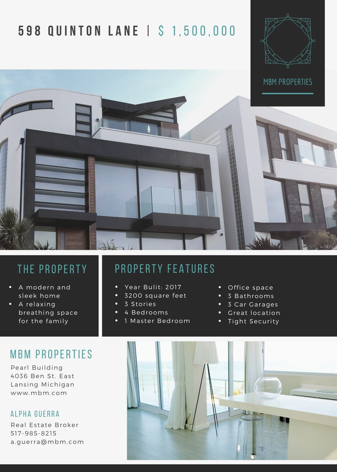 Modern House Real Estate Flyer