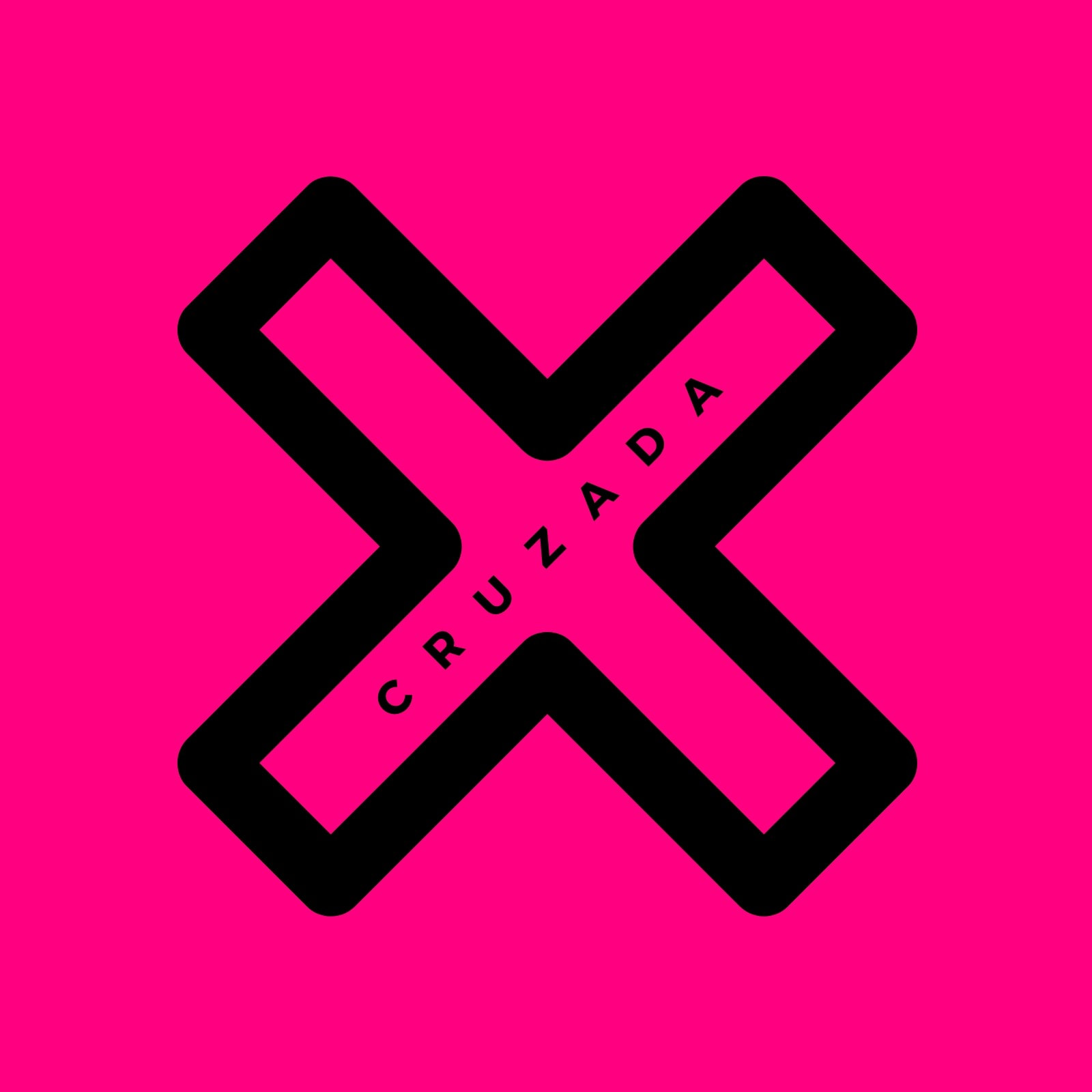 Pink Cross Icon Band Logo