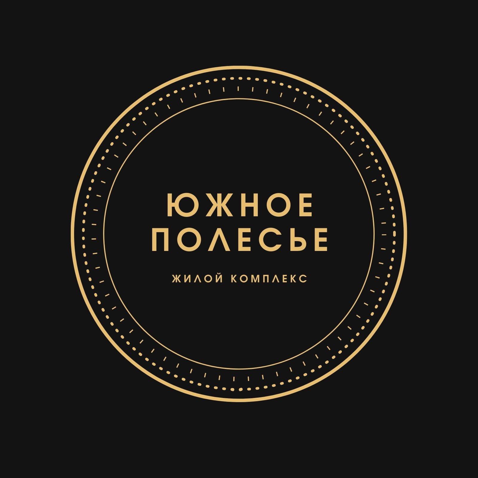 Черный и Золотой Круг Недвижимость Логотип