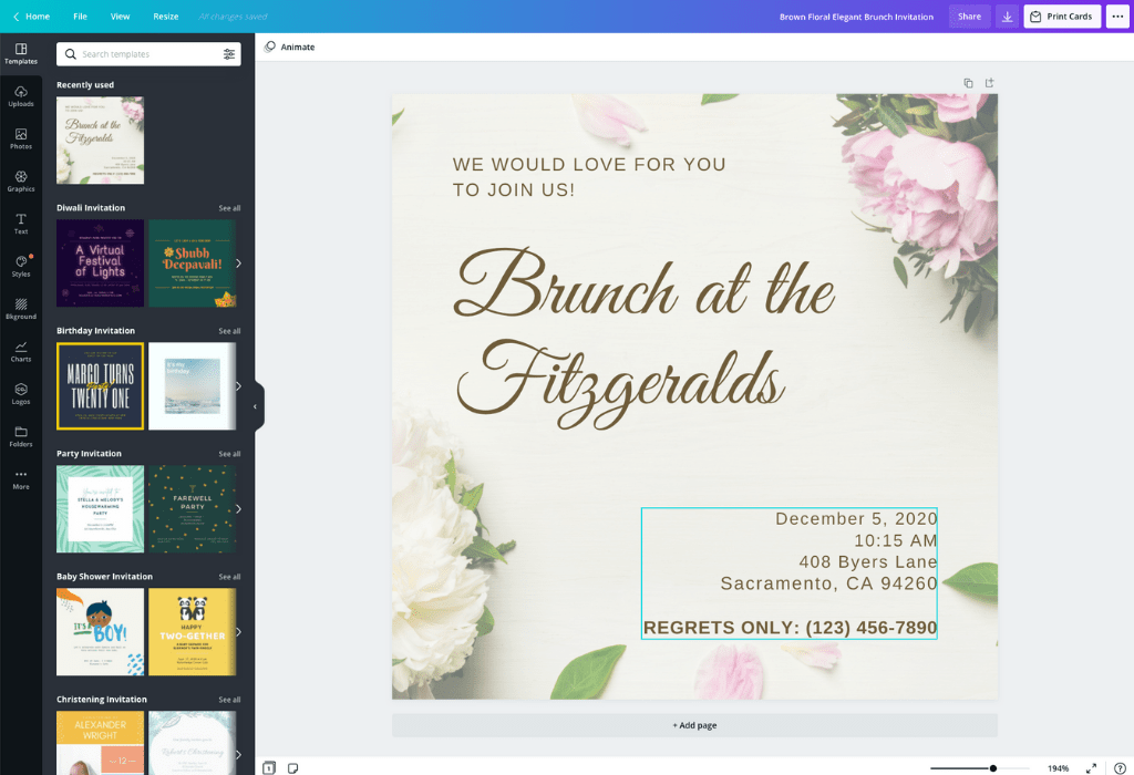 How to make an email invitation - Canva