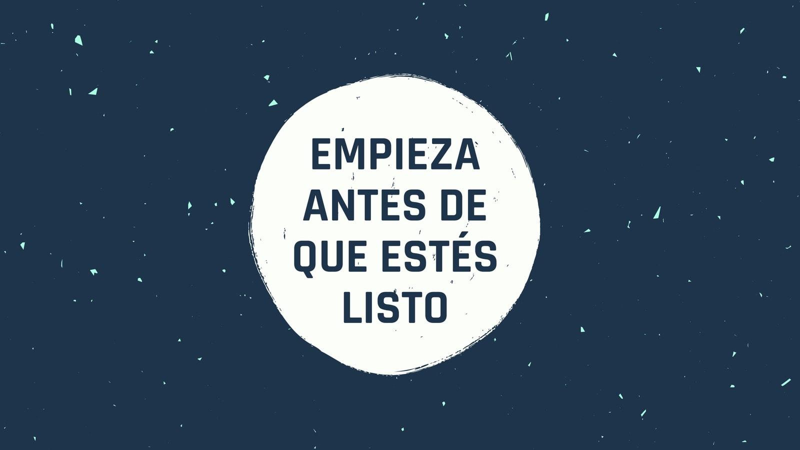 Azul Marino Blanco Grunge Textura Frase Inspiración Genial Fondo de Pantalla