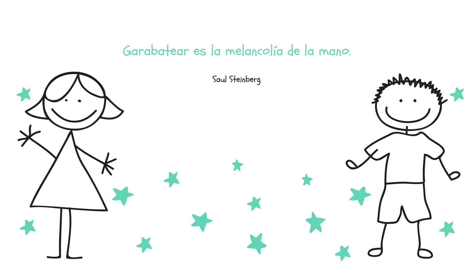 Verde Blanco Negro Garabato Estrellas Bonito Frase Inspiración Fondo de Pantalla